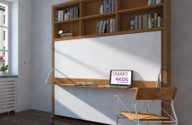 lit relevable avec bureau intégré
