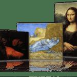 Reproduction de tableau et impression sur toile.