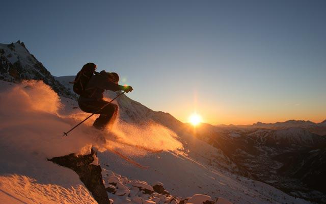 Ski hors piste en haute savoie