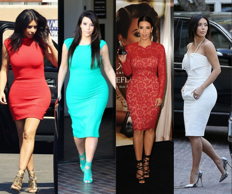 Robe kim kardashian couleur