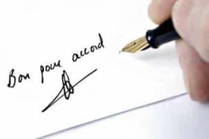 Signature pour la cession d'un bail commercial