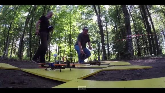 Première course au monde de drones.