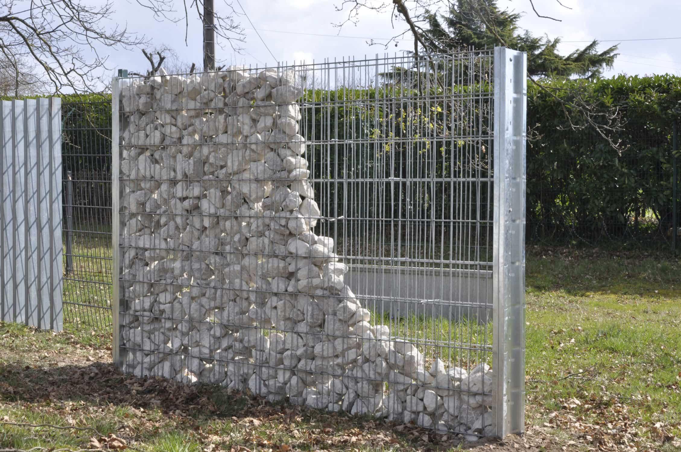 Le gabion la nouvelle tendance de d coration ext rieure annonces france for Grillage jardin avec pierre
