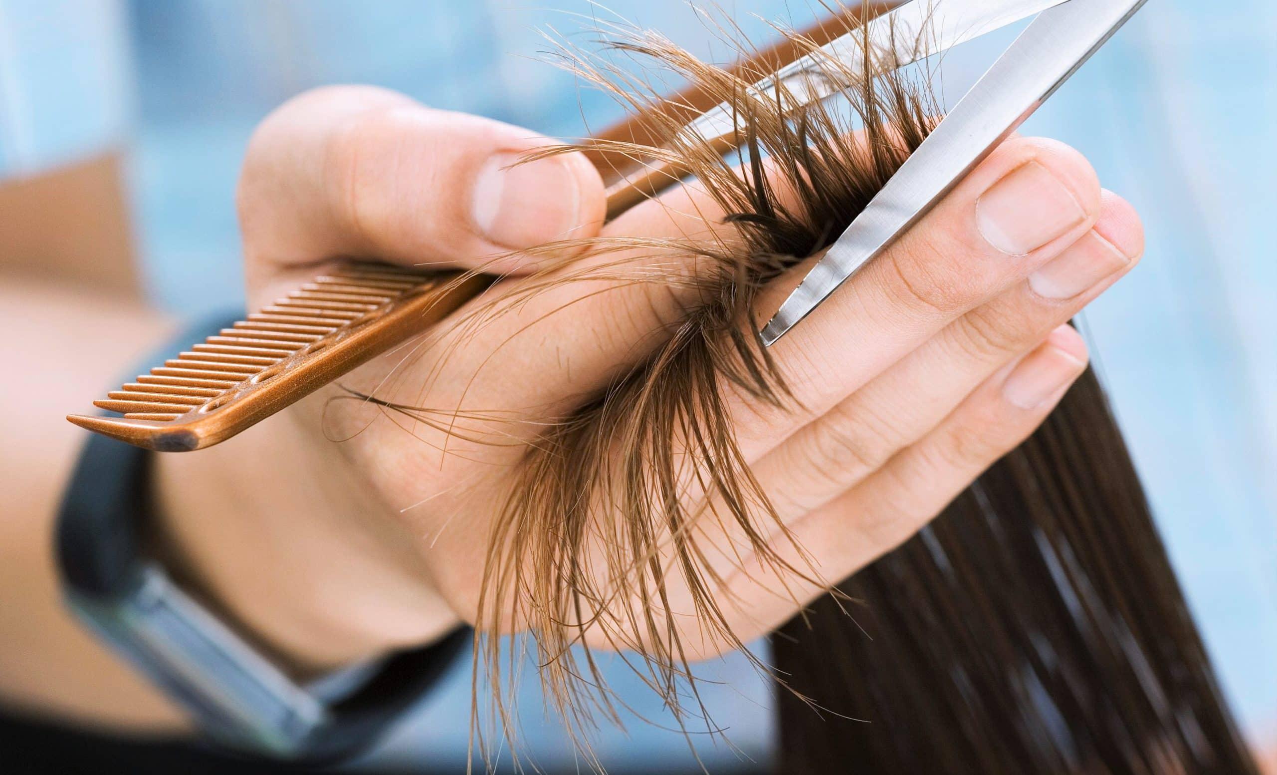 couper les pointes sur les cheuveux